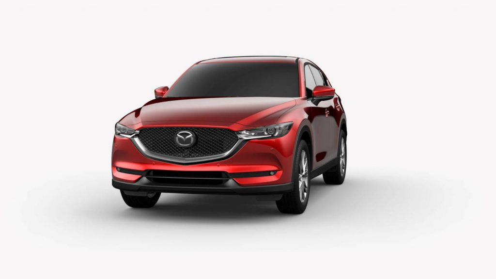 Soul Red Crystal Metallic 2019 Mazda CX-5 Exterior on White Background