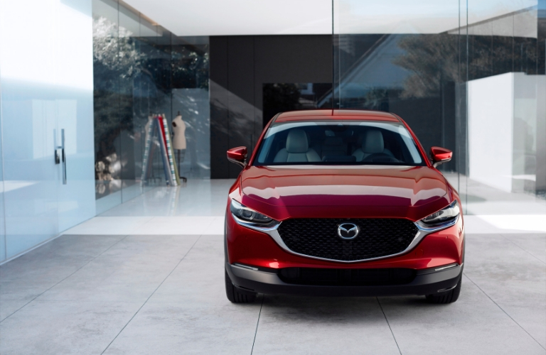 Red 2020 Mazda CX-30 Front Exterior in a Driveway