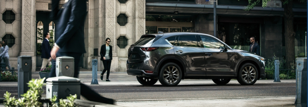Gray 2019 Mazda CX-5 Signature Diesel on a City Street