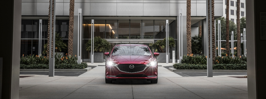 Red 2019 Mazda6 Front Exterior in a Driveway