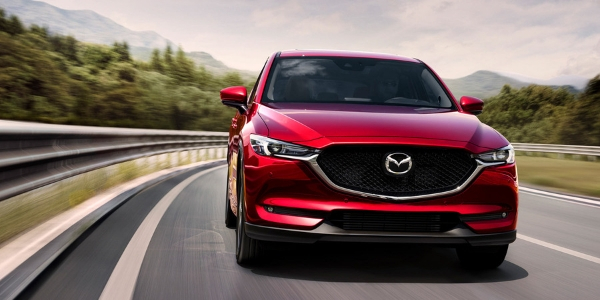 Red 2019 Mazda CX-5 Front Exterior on Highway