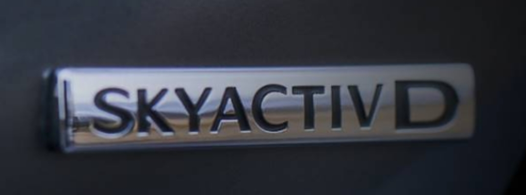 Close Up of 2020 Mazda6 SKYACTIV-D Diesel Badge