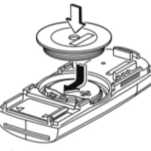 Diagram of How To Insert a New Battery in the Mazda Key Fob