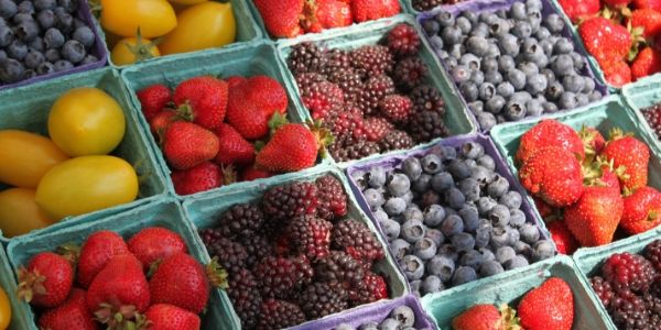 Close Up of Fruit at a Farmers Market