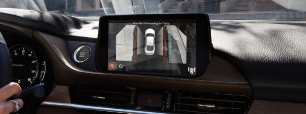2019 Mazda6 360-Degree View Monitor Top View on MAZDA CONNECT Touchscreen