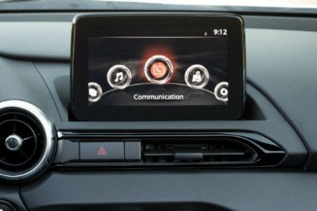 MAZDA CONNECT™ Infotainment system in Mazda vehicle dashboard