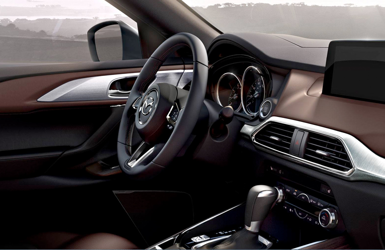 2019 Mazda CX-9 dashboard and steering wheel