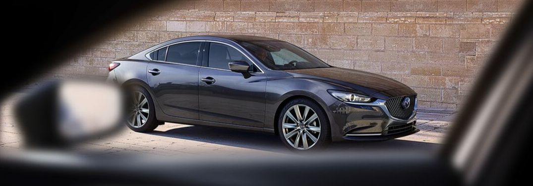 2019 Mazda6 viewed though car window
