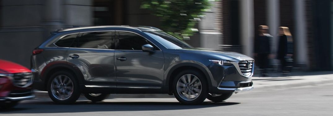 2019 Mazda CX-9 driving down city street