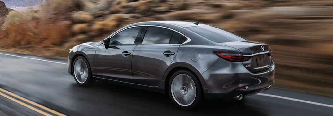 2019 Mazda6 driving down highway