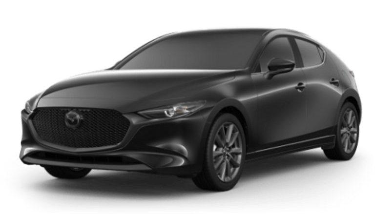 2020 Mazda3 Hatchback in Jet Black Mica