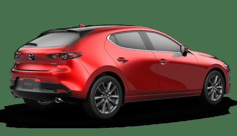 2020 Mazda3 Hatchback in Soul Red Crystal Metallic