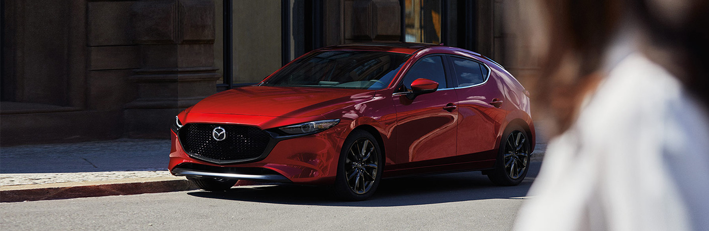 2020 Mazda3 Hatchback parked along street