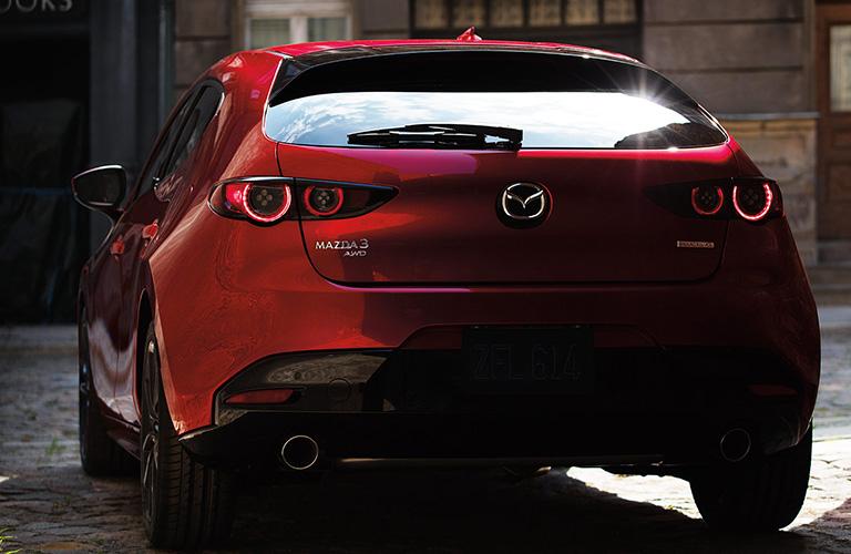 2020 Mazda3 Hatchback from rear