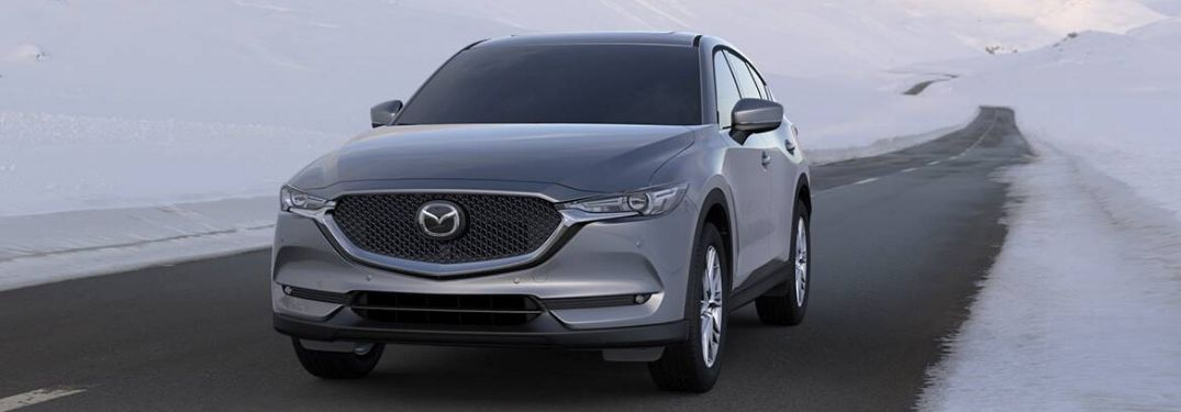 2020 Mazda CX-5 on road in snowy climate