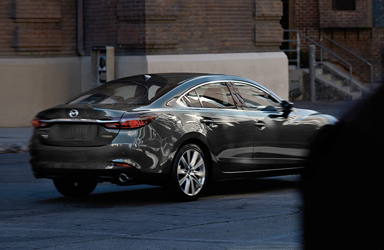 2020 Mazda6 viewed from rear