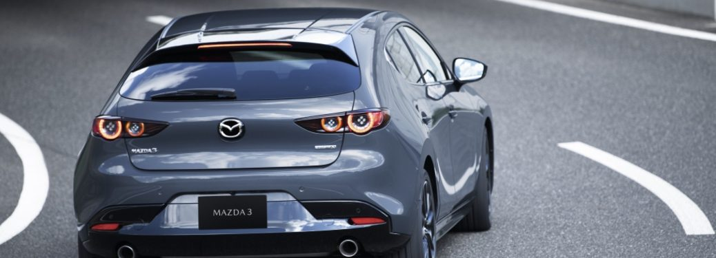 2020 Mazda3 Hatchback on road