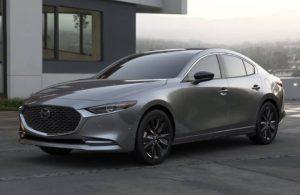 2021 Mazda3 2.5 Turbo Sedan in modern driveway