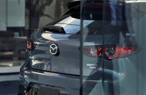 2021 Mazda3 2.5 Turbo Hatchback liftgate in showroom