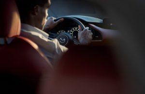 2021 Mazda3 2.5 Turbo Hatchback interior steering wheel and dashboard