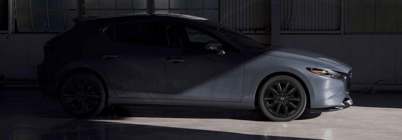2021 Mazda3 Hatchback in shadowy garage