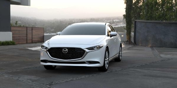 2021 Mazda3 Sedan Snowflake White Pearl Mica