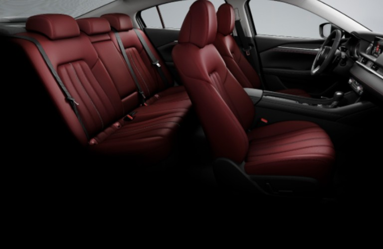 2021 Mazda6 Carbon Edition Red Leather interior
