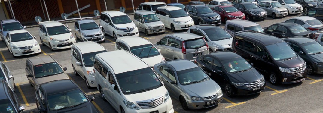 Rows of Used Vehicles in Dealership Lot