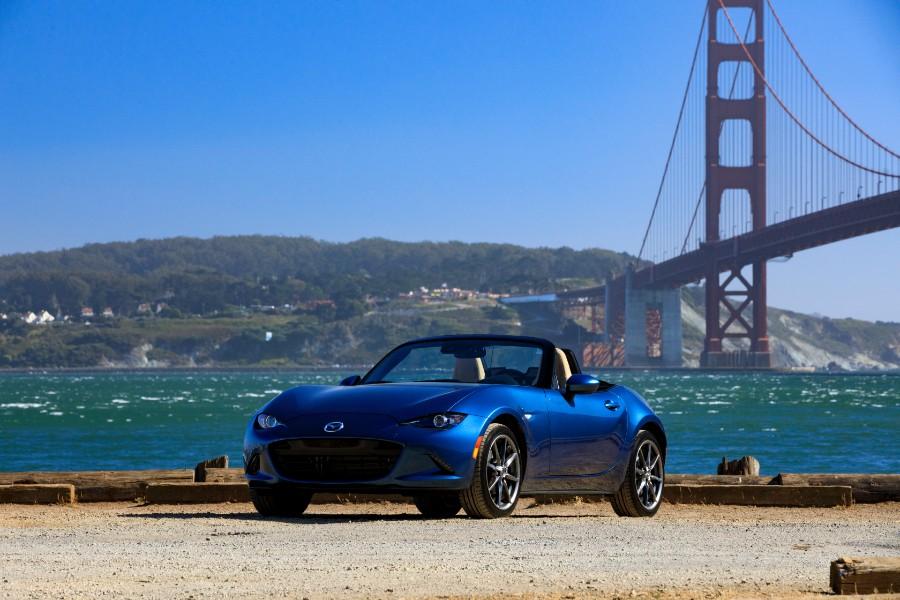 2019-Mazda-MX-5-Miata-Blue-Exterior-Driver-Side-Front-Angle