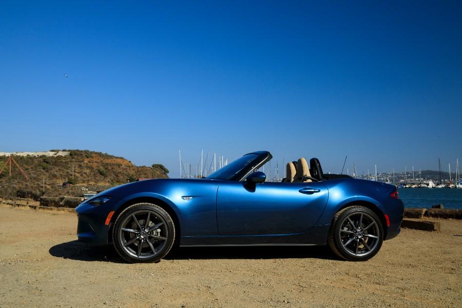 2019-Mazda-MX-5-Miata-Blue-Exterior-Driver-Side-Profile