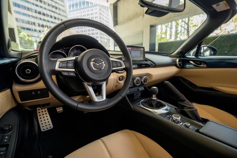 2019-Mazda-MX-5-Miata-Blue-Interior-Cabin-Dashboard