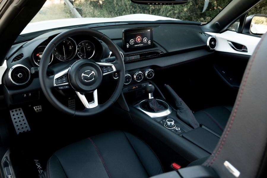 2019-Mazda-MX-5-Miata-White-Interior-Cabin-Dashboard