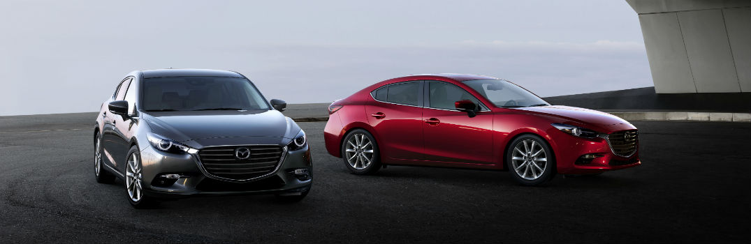 2018 Mazda3 4-Door & 5-Door Exterior Passenger Side Front Angles
