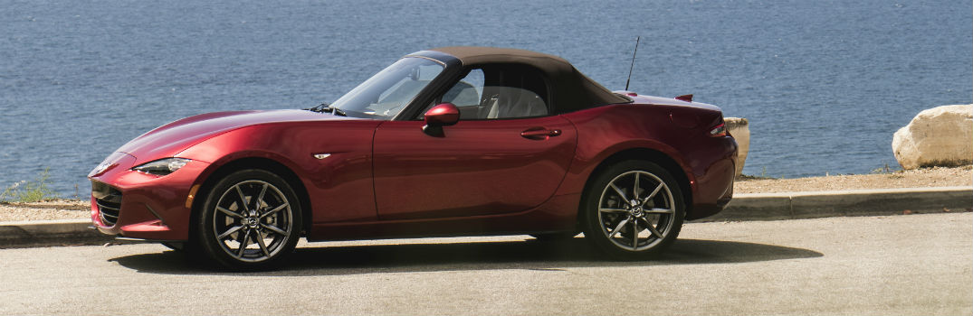 2019 Mazda MX-5 Miata Exterior Driver Side Front Profile Red