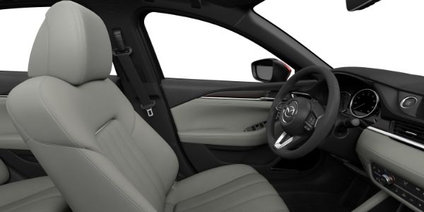 Parchment Nappa Leather 2019 Mazda6 Front Seat Interior