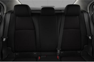 2020 Mazda 3 Sedan interior black cloth