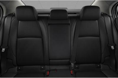 2020 Mazda 3 Sedan interior black leather