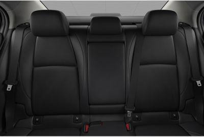 2020 Mazda 3 Sedan interior black leatherette