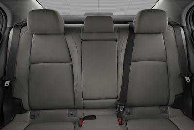 2020 Mazda 3 Sedan interior greige leatherette