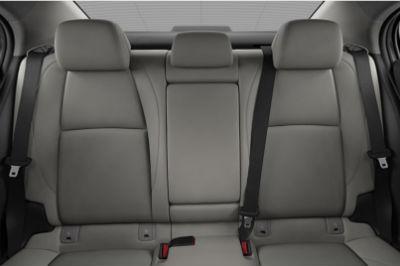 2020 Mazda 3 Sedan interior white leather