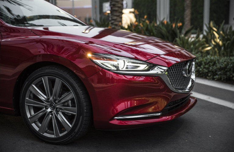 front end of red mazda6