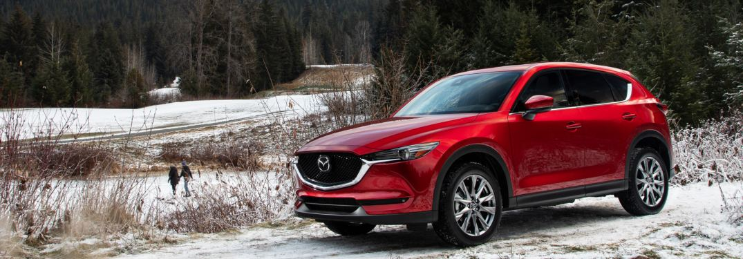 2019 Mazda CX-5 parked in the snow