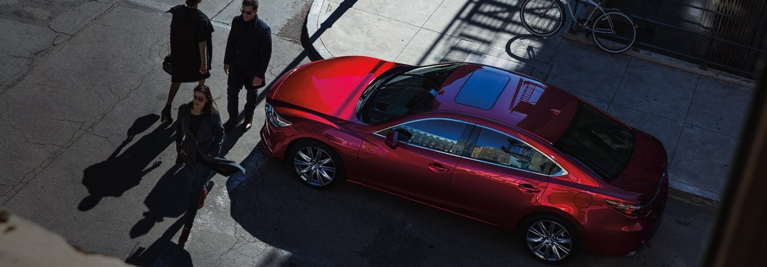 2019 Mazda6 stopped to let pedestrians cross