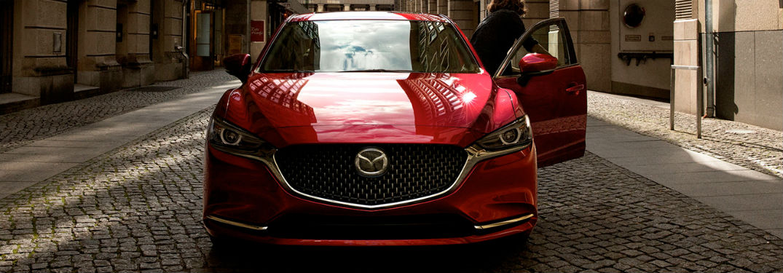 2020 Mazda6 exterior front fascia driver leaving car