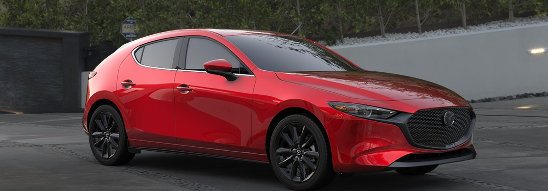 2020 Mazda3 Hatchback parked in a driveway