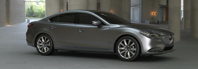 2020 Mazda6 parked inside a building