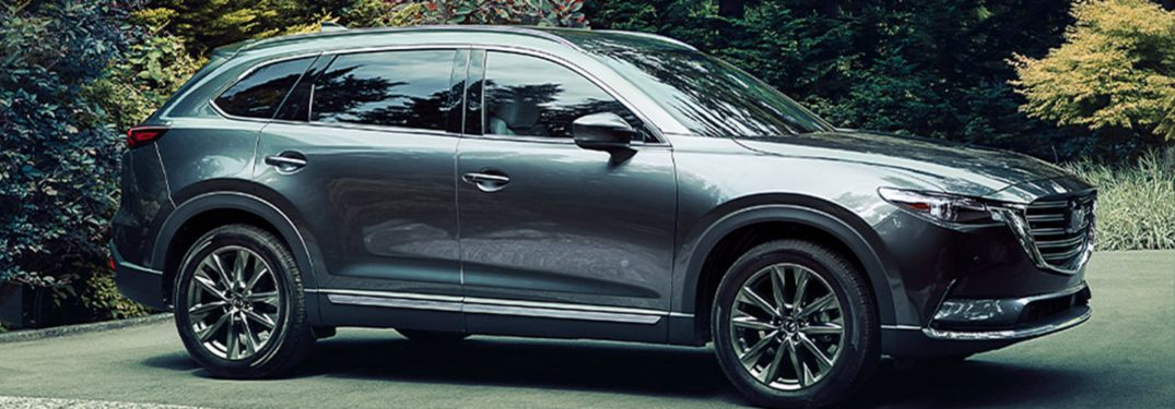 2020 Mazda CX-9 parked in a wooded parking lot