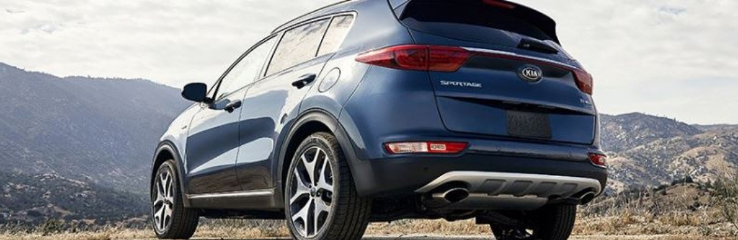2019 Kia Sportage parked outside rear view