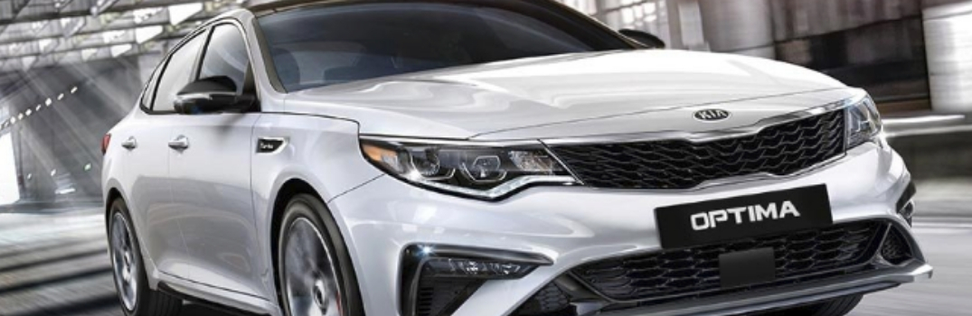 2019 Kia Optima driving on the road