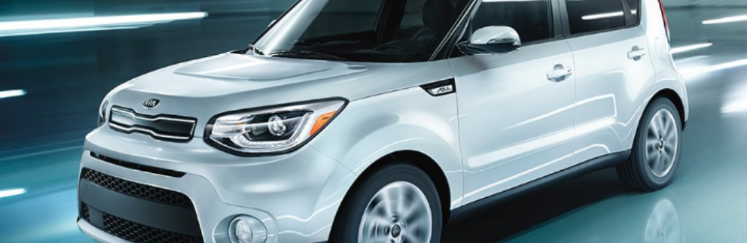 2019 Kia Soul driving on the road